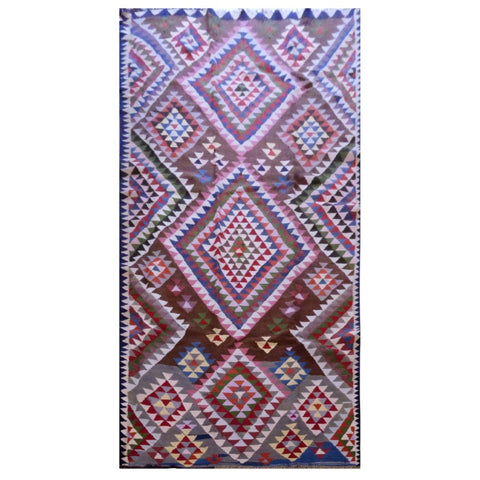 PERSIAN VINTAGE HAND-KNOTTED KILIM MADE WITH NATURAL WOOL AND COTTON 320 X 156cm ABC1555