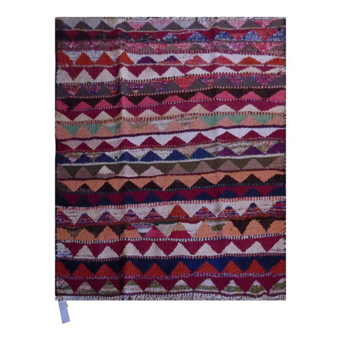 PERSIAN VINTAGE HAND-KNOTTED KILIM MADE WITH NATURAL WOOL AND COTTON 124 X 122cm ABC1923