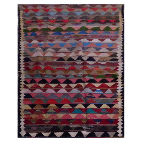 PERSIAN VINTAGE HAND-KNOTTED KILIM MADE WITH NATURAL WOOL AND COTTON 328 X 150cm ABC1658