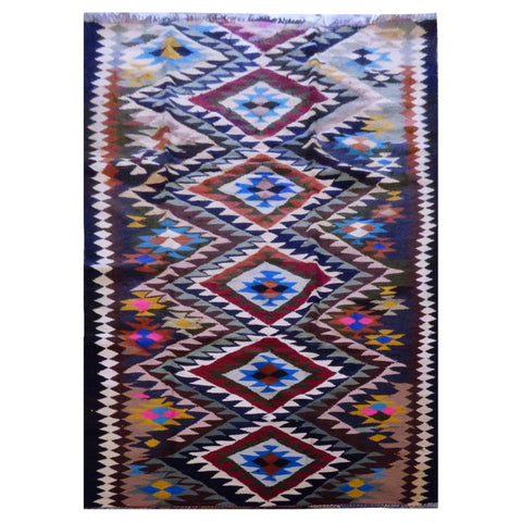 PERSIAN VINTAGE HAND-KNOTTED KILIM MADE WITH NATURAL WOOL AND COTTON 288 X 130cm ABC1325