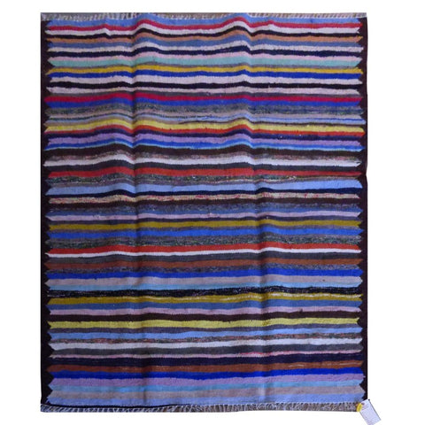 PERSIAN VINTAGE HAND-KNOTTED KILIM MADE WITH NATURAL WOOL AND COTTON 187 X 135cm ABC1593