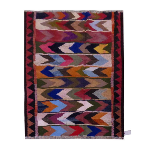 PERSIAN VINTAGE HAND-KNOTTED KILIM MADE WITH NATURAL WOOL AND COTTON 170 X 155cm ABC1597
