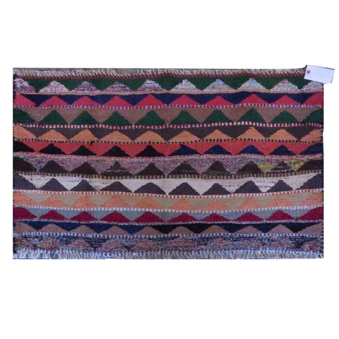 PERSIAN VINTAGE HAND-KNOTTED KILIM MADE WITH NATURAL WOOL AND COTTON 126 X 75cm ABC1916