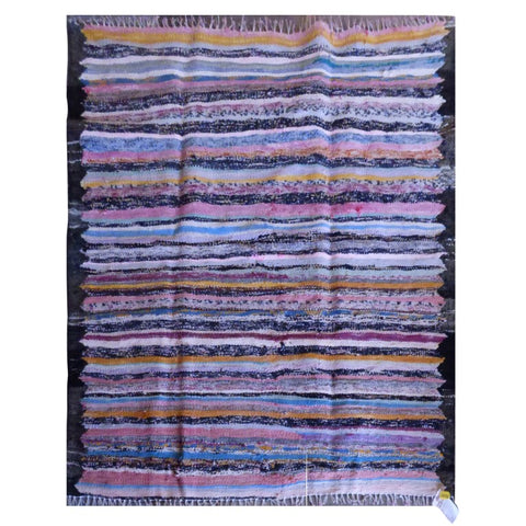 PERSIAN VINTAGE HAND-KNOTTED KILIM MADE WITH NATURAL WOOL AND COTTON 143 X 120cm ABC1592