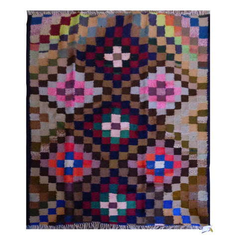 PERSIAN VINTAGE HAND-KNOTTED KILIM MADE WITH NATURAL WOOL AND COTTON 153 X 137cm ABC1519