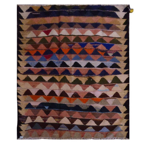 PERSIAN VINTAGE HAND-KNOTTED KILIM MADE WITH NATURAL WOOL AND COTTON 182 X 135cm ABC2013