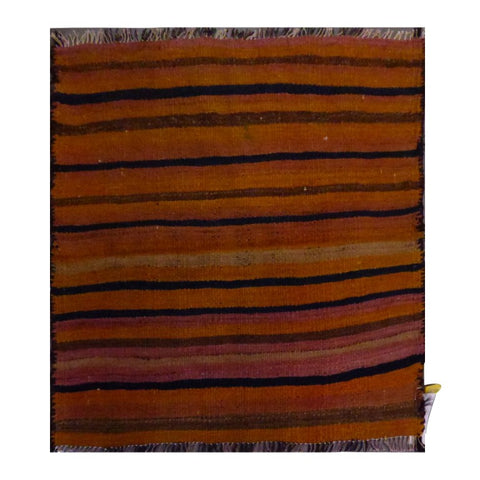 PERSIAN VINTAGE HAND-KNOTTED KILIM MADE WITH NATURAL WOOL AND COTTON 87 X 85cm ABC1580