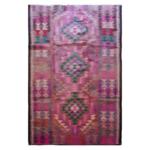 PERSIAN VINTAGE HAND-KNOTTED KILIM MADE WITH NATURAL WOOL AND COTTON 272 X 136cm ABC1678