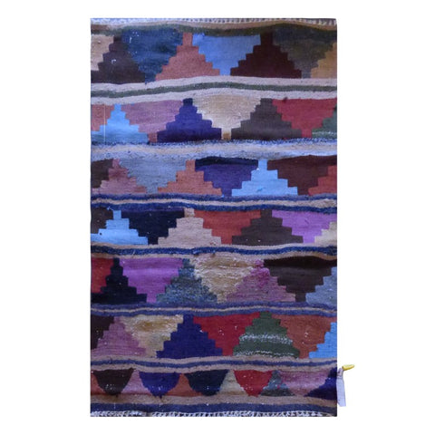 PERSIAN VINTAGE HAND-KNOTTED KILIM MADE WITH NATURAL WOOL AND COTTON 110 X 86cm ABC1596