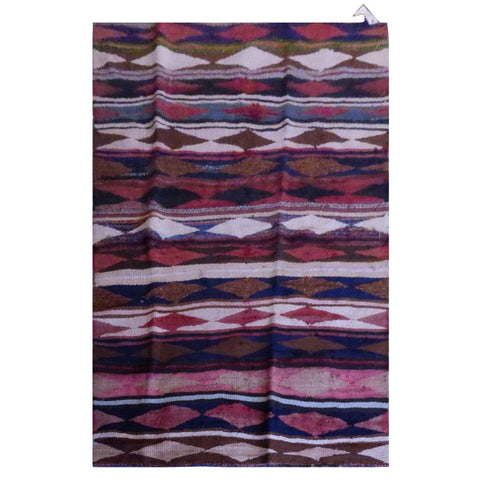 PERSIAN VINTAGE HAND-KNOTTED KILIM MADE WITH NATURAL WOOL AND COTTON 240 X 122cm ABC1356