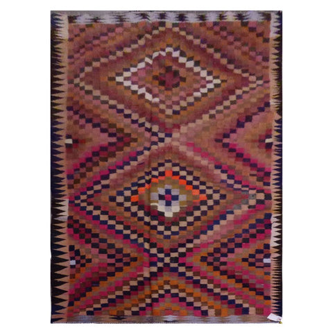 PERSIAN VINTAGE HAND-KNOTTED KILIM MADE WITH NATURAL WOOL AND COTTON 335 X 175cm ABC1534