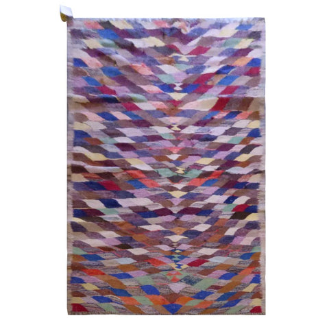 PERSIAN VINTAGE HAND-KNOTTED KILIM MADE WITH NATURAL WOOL AND COTTON 226 X 110cm ABC1535