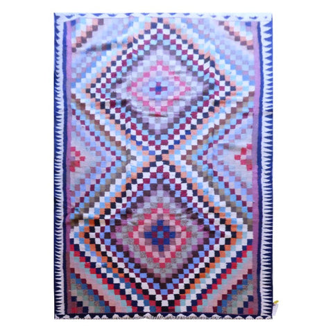 PERSIAN VINTAGE HAND-KNOTTED KILIM MADE WITH NATURAL WOOL AND COTTON 285 X 145cm ABC1572