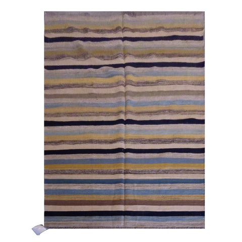 "AFGHANI MAIMANA HAND-KNOTTED KILIM MADE WITH NATURAL WOOL AND COTTON 3'2"" X 13'4"" ABC212"