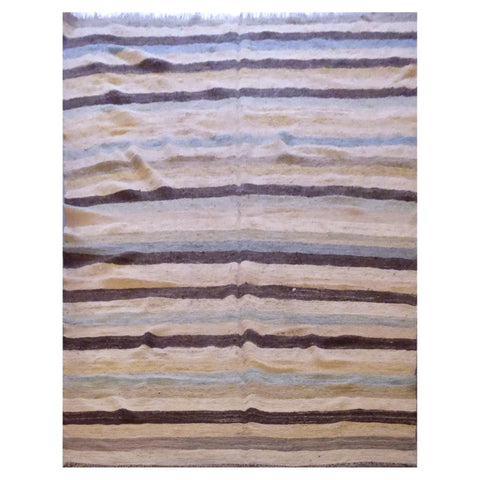 AFGHANI MAIMANA HAND-KNOTTED KILIM MADE WITH NATURAL WOOL AND COTTON 10'0'' X 6'10'' ABC127