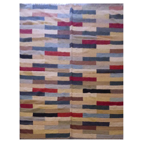 AFGHANI MAIMANA HAND-KNOTTED KILIM MADE WITH NATURAL WOOL AND COTTON 9'8'' X 6'8'' ABC114