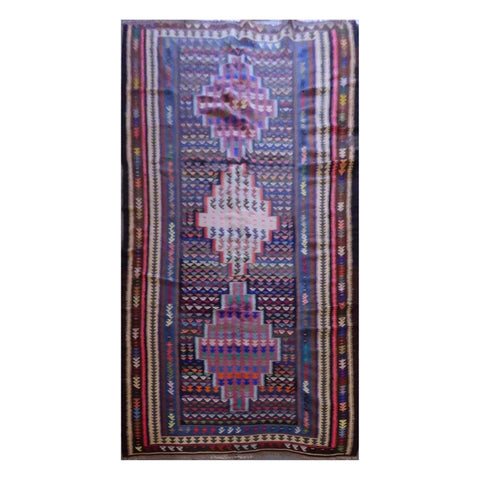 PERSIAN VINTAGE HAND-KNOTTED KILIM MADE WITH NATURAL WOOL AND COTTON 295 X 145cm ABC12
