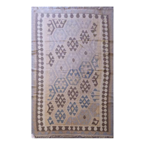 AFGHANI MAIMANA HAND-KNOTTED KILIM MADE WITH NATURAL WOOL AND COTTON 8'6'' X 5'2'' ABC119