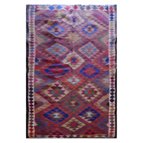PERSIAN VINTAGE HAND-KNOTTED KILIM MADE WITH NATURAL WOOL AND COTTON 312 X 166cm ABC1562