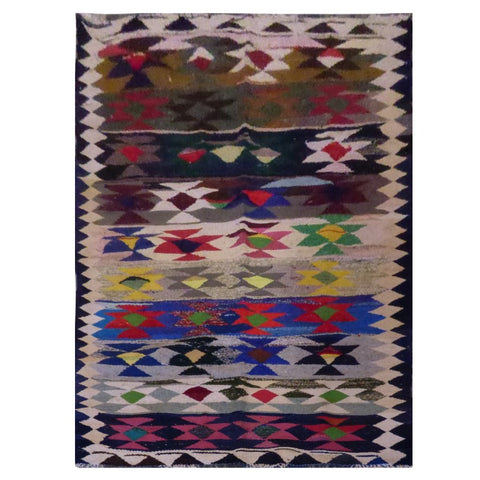 PERSIAN VINTAGE HAND-KNOTTED KILIM MADE WITH NATURAL WOOL AND COTTON 276 X 140cm ABC1566