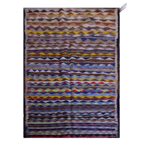 PERSIAN VINTAGE HAND-KNOTTED KILIM MADE WITH NATURAL WOOL AND COTTON 333 X 130cm ABC1762