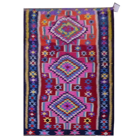 PERSIAN VINTAGE HAND-KNOTTED KILIM MADE WITH NATURAL WOOL AND COTTON 328 X 160cm ABC1569