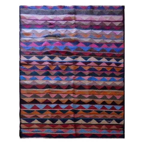 PERSIAN VINTAGE HAND-KNOTTED KILIM MADE WITH NATURAL WOOL AND COTTON 310 X 140cm ABC1718