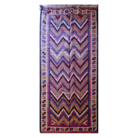 PERSIAN VINTAGE HAND-KNOTTED KILIM MADE WITH NATURAL WOOL AND COTTON 290 X 155cm ABC17