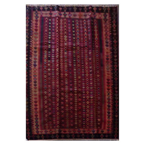 PERSIAN VINTAGE HAND-KNOTTED KILIM MADE WITH NATURAL WOOL AND COTTON 185 X 130cm ABC16