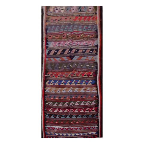 PERSIAN VINTAGE HAND-KNOTTED KILIM MADE WITH NATURAL WOOL AND COTTON 276 X 128cm ABC1634