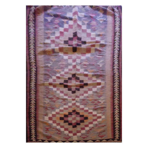 PERSIAN VINTAGE HAND-KNOTTED KILIM MADE WITH NATURAL WOOL AND COTTON 275 X 142cm ABC14
