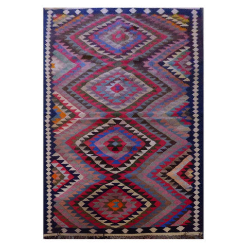 PERSIAN VINTAGE HAND-KNOTTED KILIM MADE WITH NATURAL WOOL AND COTTON 277 X 120cm ABC10