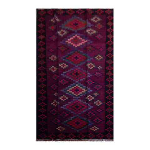 PERSIAN VINTAGE HAND-KNOTTED KILIM MADE WITH NATURAL WOOL AND COTTON 294 X 135cm ABC13