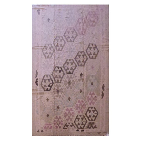 PERSIAN ARDABIL VINTAGE HAND-KNOTTED KILIM MADE WITH NATURAL WOOL AND COTTON 9'6'' X 5'10'' ABC28