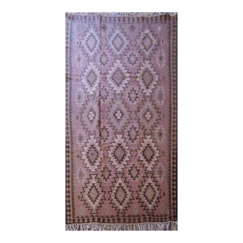 PERSIAN ARDABIL VINTAGE HAND-KNOTTED KILIM MADE WITH NATURAL WOOL AND COTTON 9'2'' X 5'10'' ABC184