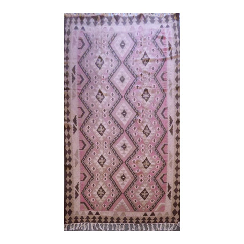 PERSIAN ARDABIL VINTAGE HAND-KNOTTED KILIM MADE WITH NATURAL WOOL AND COTTON 8'6'' X 5'8'' ABC180