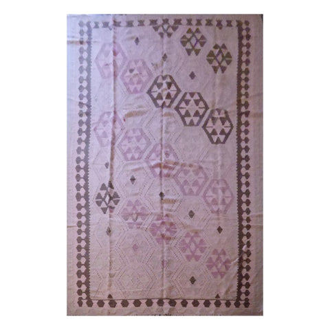 PERSIAN ARDABIL VINTAGE HAND-KNOTTED KILIM MADE WITH NATURAL WOOL AND COTTON 9'6'' X 6'2'' ABC226