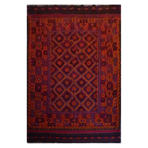 AFGHAN HAND-KNOTTED KILIM MADE WITH NATURAL WOOL AND COTTON 9'4'' X 13'8'' ABC1122