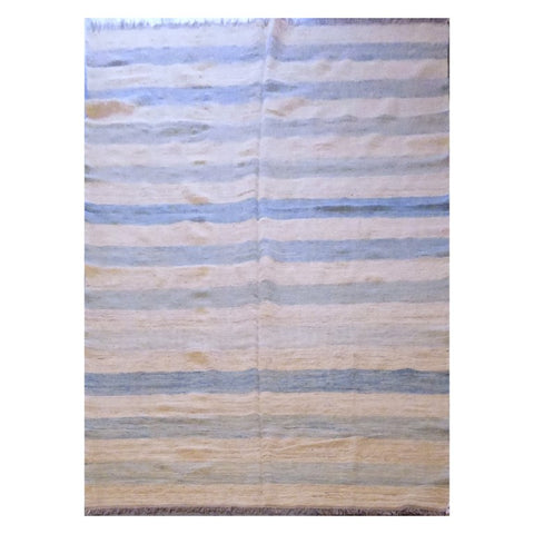 AFGHANI MAIMANA HAND-KNOTTED KILIM MADE WITH NATURAL WOOL AND COTTON 10'0'' X 6'9'' ABC103