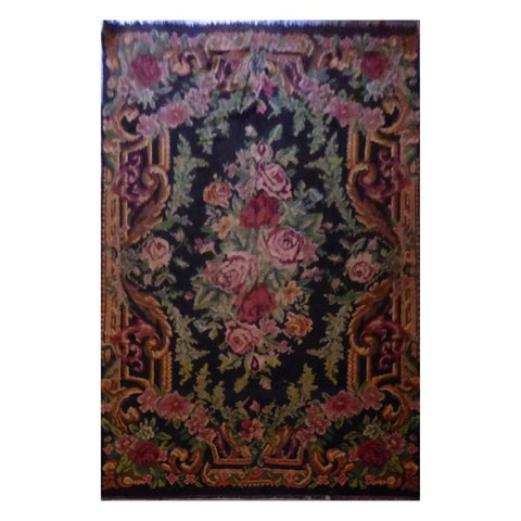 TURKISH HAND-KNOTTED KILIM MADE WITH NATURAL WOOL AND COTTON 7'9'' X 11'9'' ABC21215