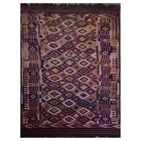 AFGHAN  HAND-KNOTTED KILIM MADE WITH NATURAL WOOL AND COTTON 18'1'' X 6'11'' ABC1131