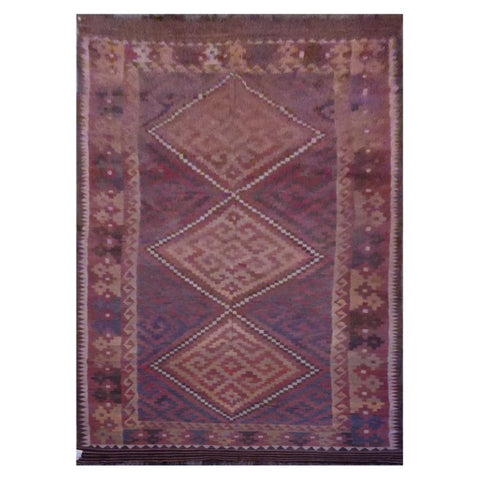 AFGHAN HAND-KNOTTED KILIM MADE WITH NATURAL WOOL AND COTTON 15'0'' X 6'9'' ABC1138