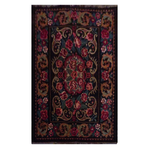 TURKISH HAND-KNOTTED KILIM MADE WITH NATURAL WOOL AND COTTON 5'10'' X 7'9'' ABC1001