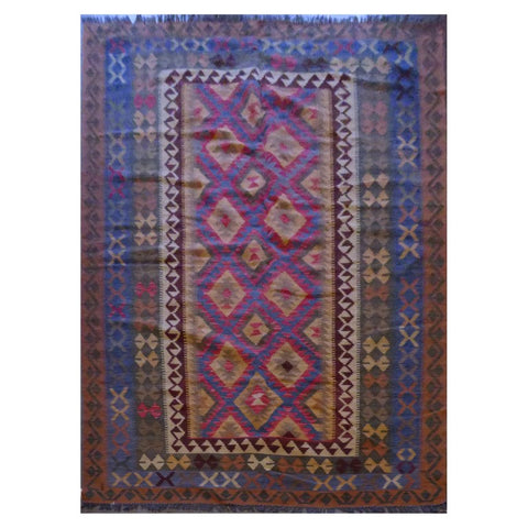 TURKISH HAND-KNOTTED KILIM MADE WITH NATURAL WOOL AND COTTON 6'5'' X 15'5'' ABC21228