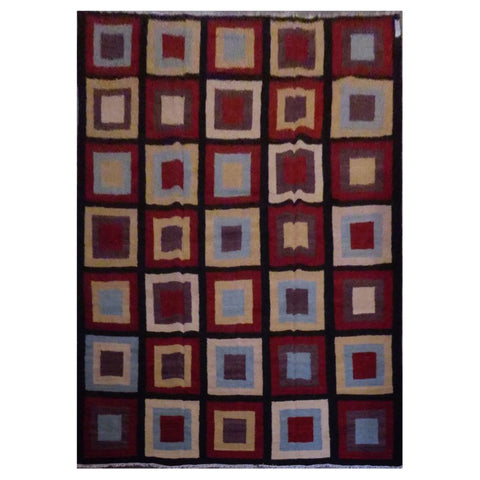AFGHAN HAND-KNOTTED KILIM MADE WITH NATURAL WOOL AND COTTON 9'7'' X 13'4'' ABC20771