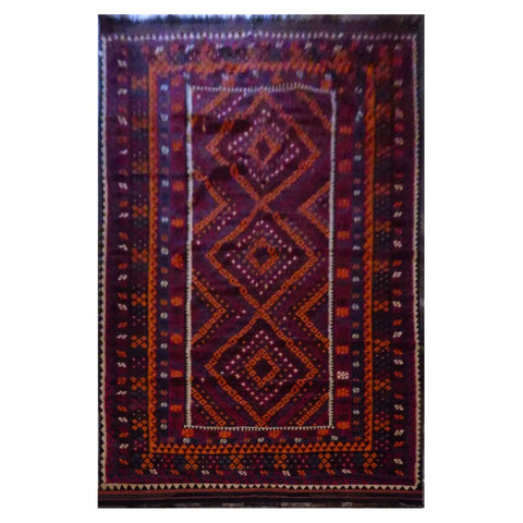 AFGHAN HAND-KNOTTED KILIM MADE WITH NATURAL WOOL AND COTTON 9'9'' X 13'4'' ABC21171