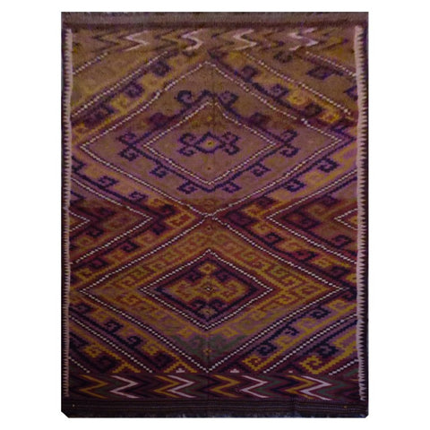 AFGHAN HAND-KNOTTED KILIM MADE WITH NATURAL WOOL AND COTTON 16'1'' X 7'8'' ABC1135