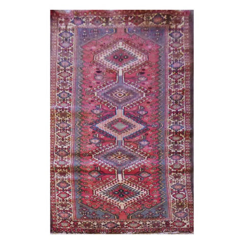 PERSIAN YALAMEH HAND-KNOTTED RUG MADE WITH NATURAL WOOL AND COTTON 3'0'' X 6'9'' ABC224