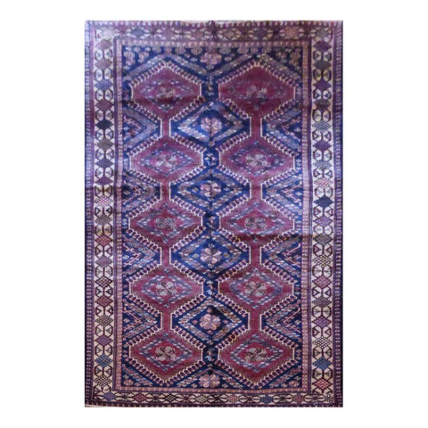 PERSIAN YALAMEH HAND-KNOTTED RUG MADE WITH NATURAL WOOL AND COTTON 10'1'' X 5'1'' ABC2928