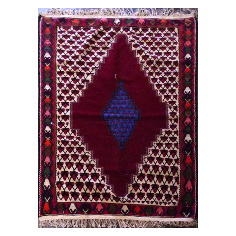 PERSIAN HAND-KNOTTED KILIM MADE WITH NATURAL WOOL AND COTTON 3'1'' X 5'3''  ABC0